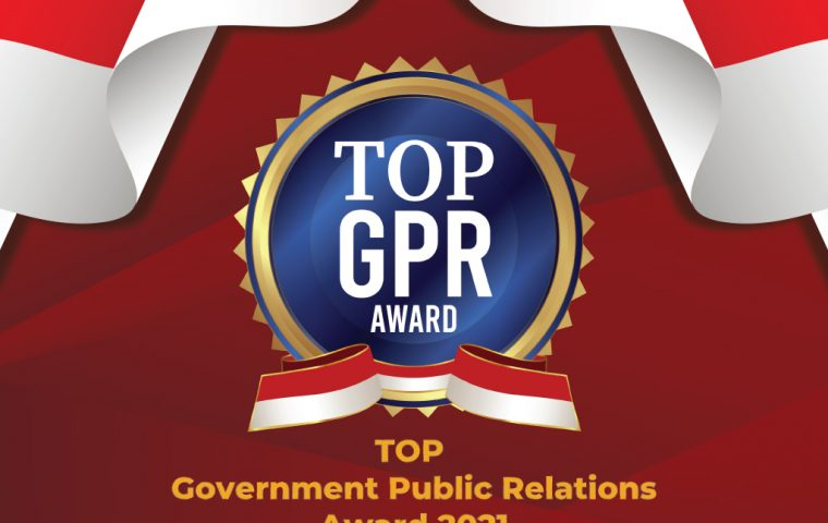 """TOP GOVERNMENT PUBLIC RELATIONS AWARD 2021 """"Sinergi Pranata Humas (GPR) Untuk Indonesia Maju"""""""