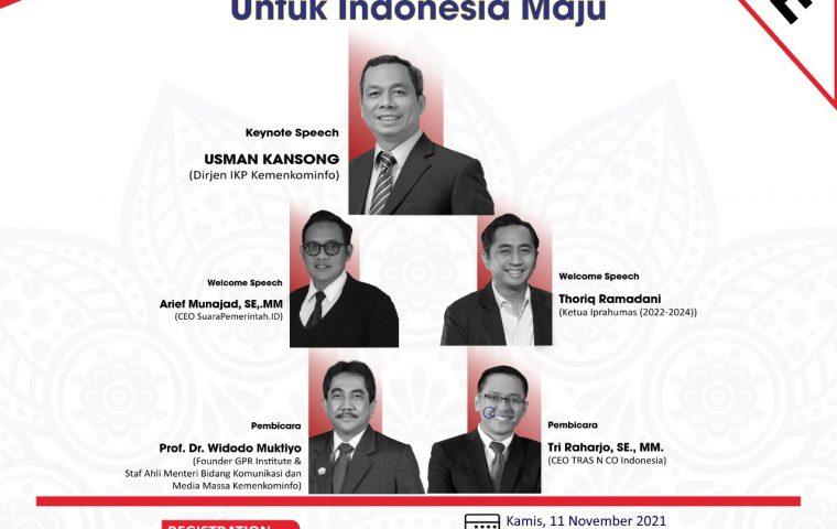 "Webinar Nasional Pranata Humas 2021 ""Sinergi Pranata Humas Untuk Indonesia Maju"""